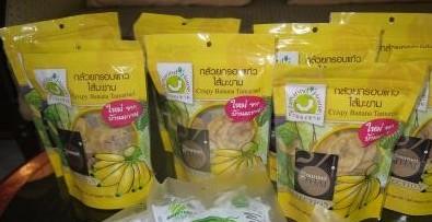 タイのタマリンドバナナチップス