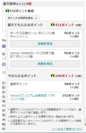 Yahooショッピングポイント